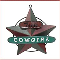 St Nicholas Square Cowgirl Ornament