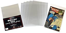 (100) Silver Age Mylar Comic Sleeves - 4 Mil Thick - BCW by BCW