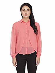 Femella Women's Shirt(DS-1599718-908_Coral_X_Large)