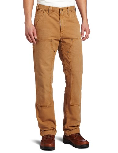 Carhartt Men's Weathered Duck Double Front Dungaree Relaxed Fit,Carhartt Brown,31 x 30 (Briar Proof Pants compare prices)