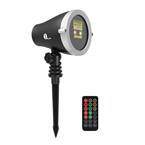 1byone-Aluminum-Alloy-Outdoor-Laser-Christmas-Light-Projector-with-IR-Wireless-Remote