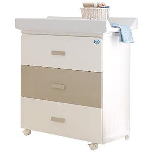 pali bade wickelkombination wickeltisch mit baby badewanne zoom wei sand baby. Black Bedroom Furniture Sets. Home Design Ideas