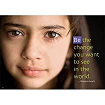 BE THE CHANGE LP LARGE POSTERS