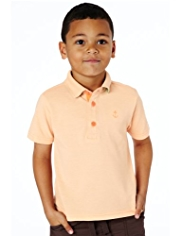 Short Sleeve Piqué Oblong Polo Shirt