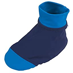Sun Smarties Unisex Baby UPF 50+ Non-Skid Sand and Water Socks X-Small Navy Blue