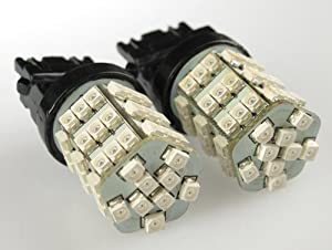 3157 LED white bulbs 54 SMD ultra bright 2pc