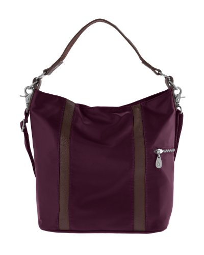 Baggallini Luggage Paige Bucket Bag, Garnet, One Size