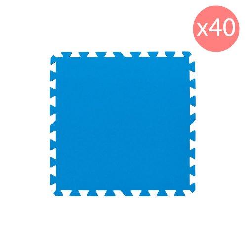 Bestway Tappetino blu 50x50cm 40 pezzi fondo piscina protezione accessori 58220