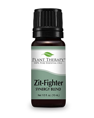Zit Fighter Synergy Essential Oil Blend. 10 ml. 100% Pure, Undiluted, Therapeutic Grade. (Blend of: Geranium Bourbon, Pink Grapefruit, Cedarwood deodara, Peppermint, Rosemary, Roman Chamomile)