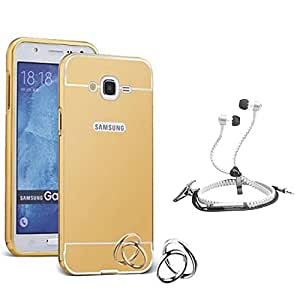 Droit Luxury Metal Bumper + Acrylic Mirror Back Cover Case For + Samsung G360 Stylish Zipper Handfree and Good QualitySound by Droit Store.