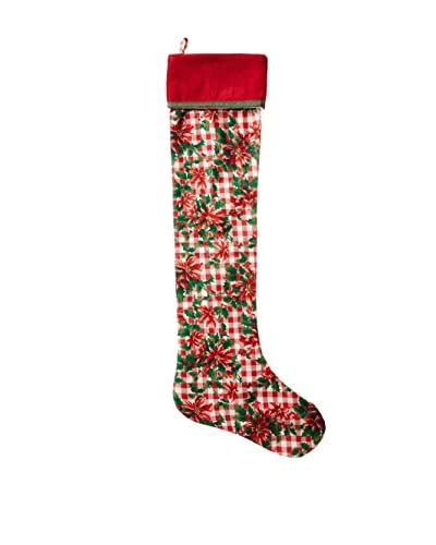 April Cornell Garland Stocking, Red
