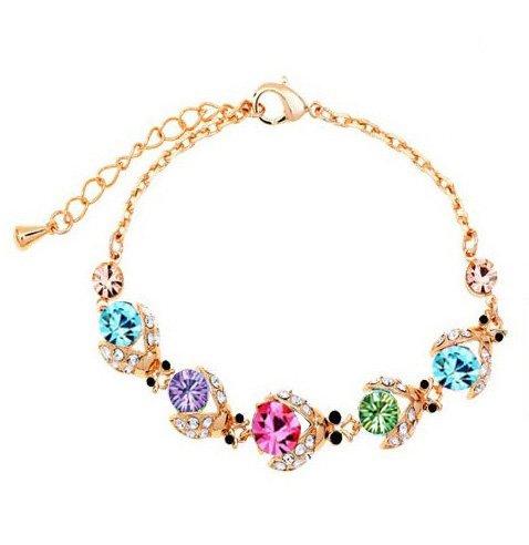 gambulin-bracciale-doro-placcato-cinque-cristallo-scarabei-coleotteri-cinque-braccialetto-di-cristal