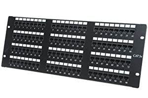 Cat5e Patch Panel - 96 Port - 4RU, Great for Office or Home Networks, 110 Punchdowns, T568A / T568B Compatible, GUARANTEED for life, Fits 96 Cat5 Cables
