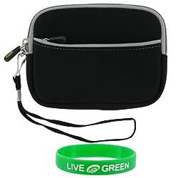 rooCASE Neoprene Sleeve (Black) Case for Seagate FreeAgent GoFlex 1 TB Ultra-portable Drive STAA1000100 (Black)