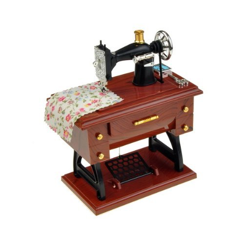 Mini Sartorius Model Sewing Machine Shape Music Box Toy Gift
