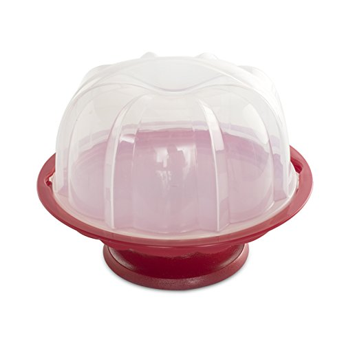Nordic Ware 1804 Bundt Cake Stand with Locking Dome Lid, Clear (Decorative Plastic Ware compare prices)