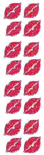 Jillson Roberts Prismatic Stickers, Mini Lips, 12-Sheet Count (S7144)