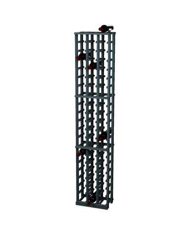Wine Cellar Innovations Rustic Pine Wine Rack For 63 Wine Bottles, 3 Column, Midnight Black Stained front-555663