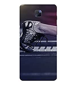 PrintVisa Sports Running Design 3D Hard Polycarbonate Designer Back Case Cover for One Plus 3