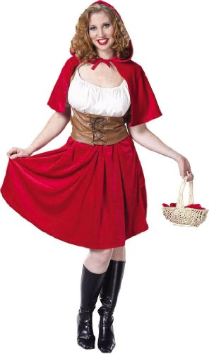Plus Size Red Riding Hood Theatre Costumes Fairy Tale