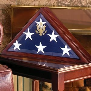 Solid Wood Elegant 5 X 9.5' Flag Display Case for Burial/funeral/veteran Flag, Walnut