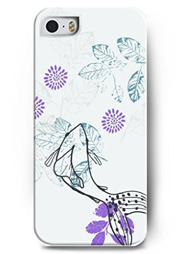 Ouo Stylish Series Case For Iphone 5 5S 5G With The Design Of Purple Flower And Leaves