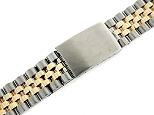 Mens 14k/ss Jubilee Watch Band for Rolex 20mm Datejust 36mm