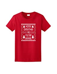 Christmas T Shirt Immitation Evergreen Snowflake