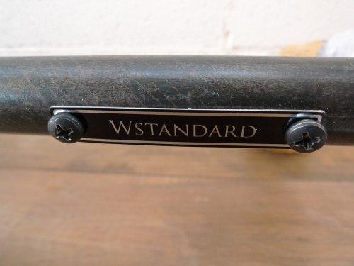W STANDARD インダストリアル アイアンハンガーラック スチール製 HR-03BK-120