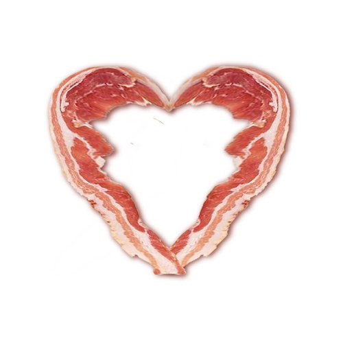 Bacon Lovers Large Heart Temporary Tattoo Pack 