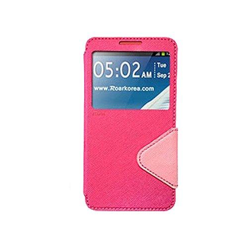 Galaxy S4 ケース Roar Standing View Diary Case ギャラクシー S4 手帳型 ビュー フリップ ケース ピンク・ベビーピンク(Pink/Baby Pink) / SC-04E 携帯 スマホ スマートフォン モバイル ケース カバー ダイアリー 手帳 ケース バンパー カード 収納 ポケット スロット スタンド