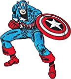 CAPTAIN AMERICA'S PATCH, Licensed Marvel's The Avengers Comic Superhero, Iron-On / Sew-On, 3.75