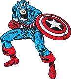 CAPTAIN AMERICA'S PATCH, Licensed Marvel's The Avengers Comic Superhero, Iron-On / Sew-On, 3.75