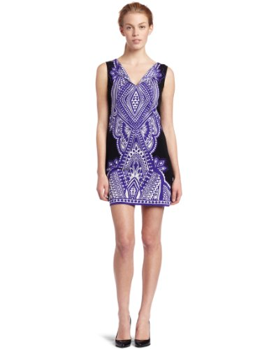 Nicole Miller Women's Harmony Dress, Purple, Petite