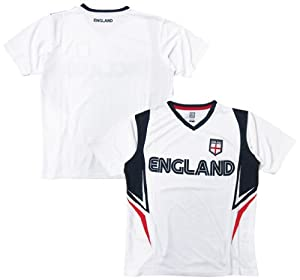 Buy England Soccer White Wordmark 2014 Training Jersey by RHINOXGROUP