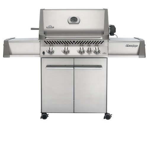 Napoleon P500Rbpss Prestige Propane Grill With Rear Burner Stainless Steel Doors And Lid