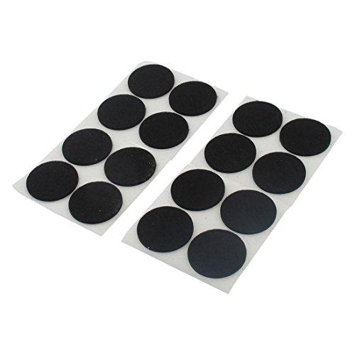 16 Stk Kabinett Beine selbst Stick Möbel Kappe Filz Pads schwarz 38mm Durchm.