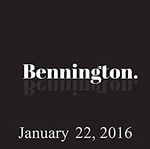 Bennington, January 22, 2016 Radio/TV Program