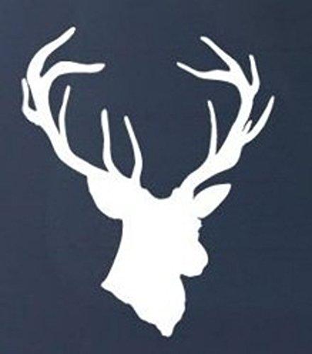 deer-head-hunting-vinyl-decal-sticker-cars-trucks-walls-laptop-white-55-in-kcd367