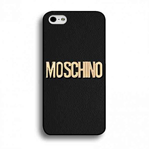 Moschino Logo Toy Pattern Hard Plastic Black Cover, Moschino Logo Toy Pattern iPhone 6/iPhone 6S(4.7inch), Moschino Logo Toy Pattern Phone Custodia