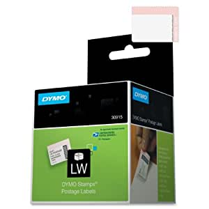 DYMO 30915 LabelWriter Self-Adhesive USPS Postage Stamp Labels, 1 5/8- by 1 1/4-inch, White, Roll of 200