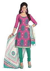 Ashika Designer Embroidered Cotton Dress Material (TANVI-A)