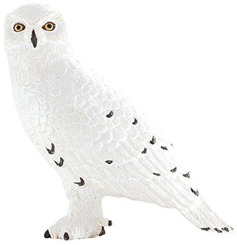 MOJO Fun 387201 Snowy Owl - Realistic International Bird of Prey Toy Replica