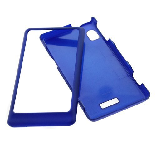 GTMax 2 Pieces - Blue Rubberized Hard Cover Case + LCD Screen Protector For Motorola Droid 2 Cell Phone