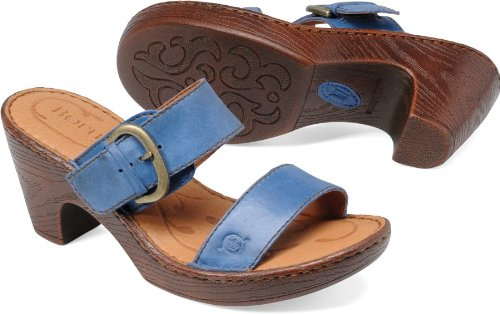 Born Womens Tinari Slide Sea Blue Size 6