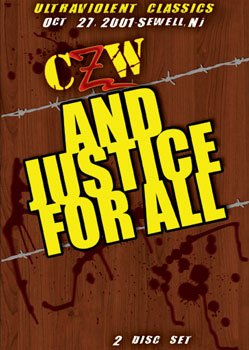 CZW- Combat Zone Wrestling- Justice For All Double DVD-R Set