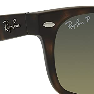 Ray-Ban New Wayfarer Sunglasses (RB2132) Brown/Brown Plastic - Polarized - 55mm