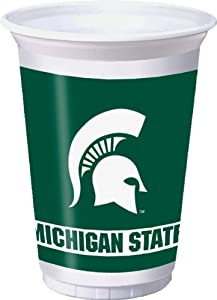 Buy Creative Converting Michigan State Spartans Printed Plastic 20 oz. Cups (8 Count) by Creative Converting