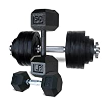 Holiday Sales: Yes4All Hex, Rubber Hex, Adjustable Dumbbells 20, 25, 30 ,40 ,50 , 52.5, 60 to 105 lbs