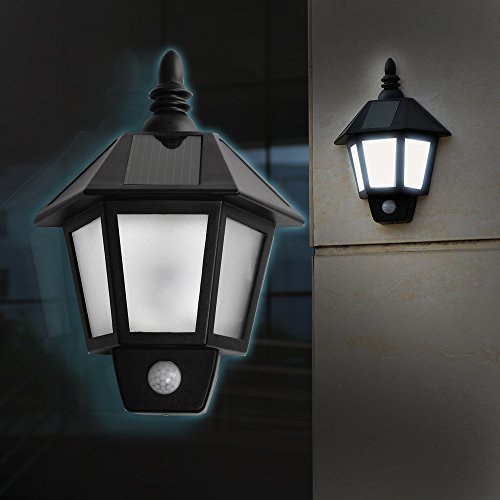Easternstar Led Solar Wall Light Outdoor Solar Wall Sconces Vintage Solar Motion Sensor Lights
